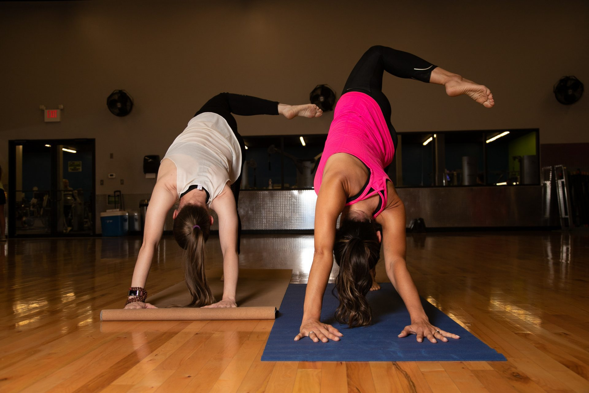 women doing yoga at a gym in oklahoma