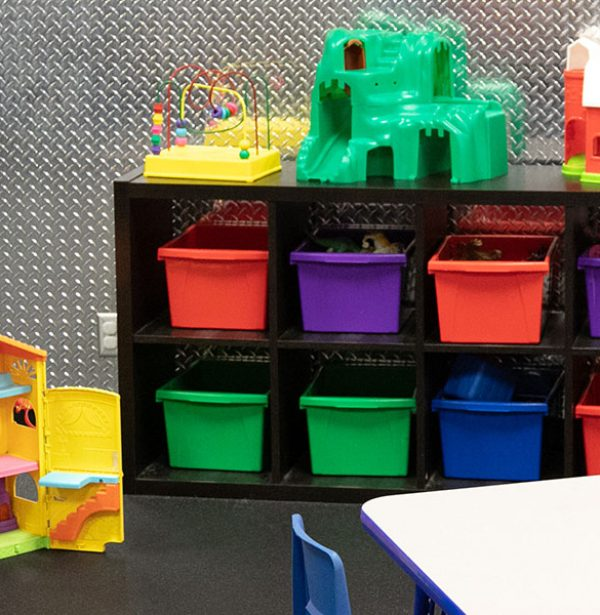 close up of gym childcare room in best gym near me
