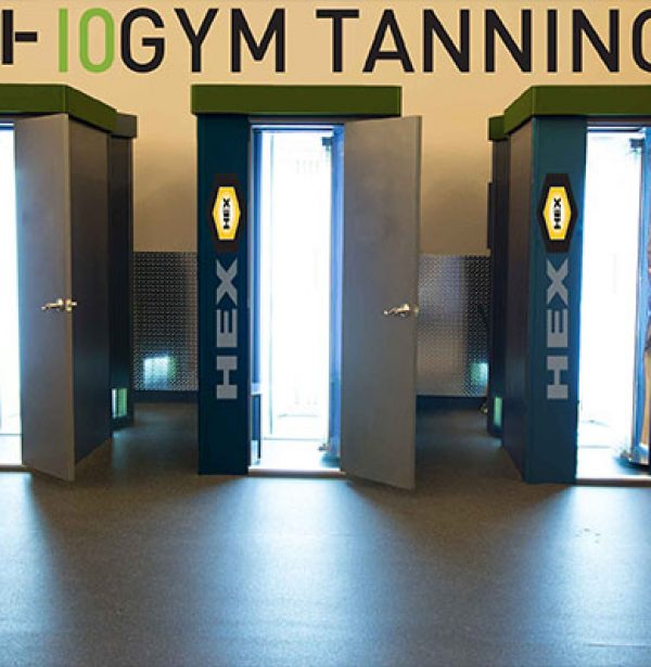 Tanning booths in gym